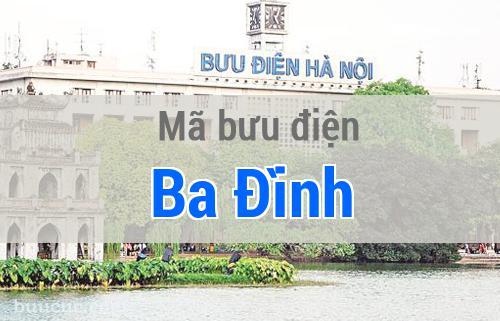 Mã bưu điện Ba Đình, Hà Nội