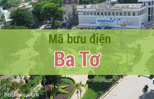 Mã bưu điện Ba Tơ, Quảng Ngãi