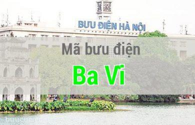 Mã bưu điện Ba Vì, Hà Nội