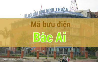 Mã bưu điện Bác Ái, Ninh Thuận