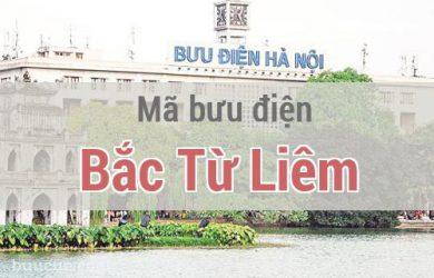 Mã bưu điện Bắc Từ Liêm, Hà Nội