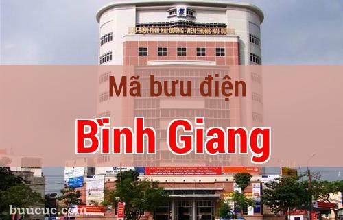Mã bưu điện Bình Giang, Hải Dương