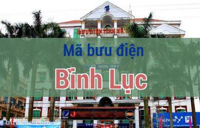 Mã bưu điện Bình Lục, Hà Nam