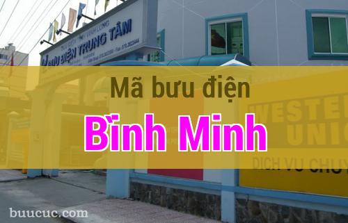 Mã bưu điện Bình Minh, Vĩnh Long