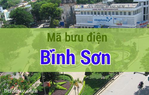 Mã bưu điện Bình Sơn, Quảng Ngãi