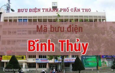 Mã bưu điện Bình Thủy, Cần Thơ
