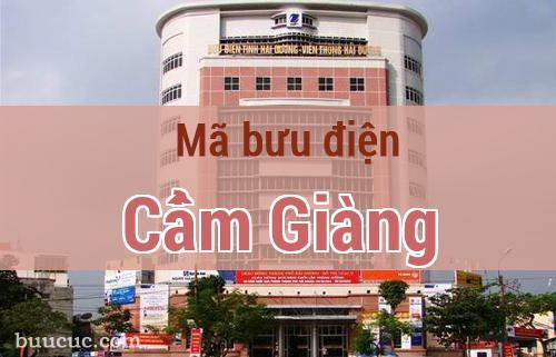 Mã bưu điện Cẩm Giàng, Hải Dương