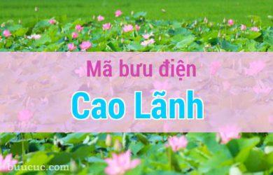 Mã bưu điện Cao Lãnh, Đồng Tháp