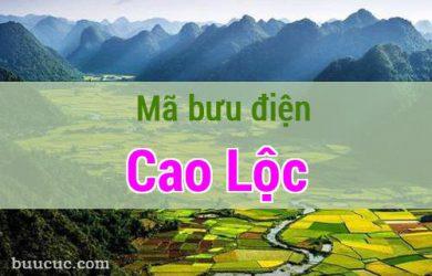 Mã bưu điện Cao Lộc, Lạng Sơn