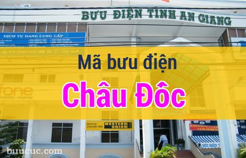 Mã bưu điện Châu Đốc, An Giang