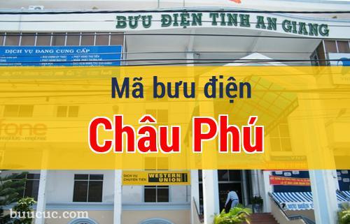 Mã bưu điện Châu Phú, An Giang