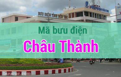 Mã bưu điện Châu Thành, Bến Tre