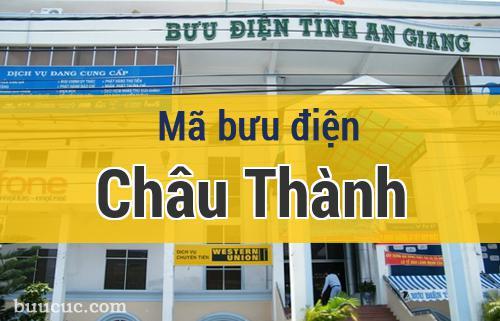 Mã bưu điện Châu Thành, An Giang