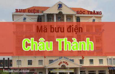 Mã bưu điện Châu Thành, Sóc Trăng