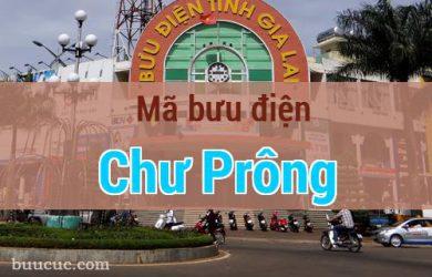 Mã bưu điện Chư Prông, Gia Lai