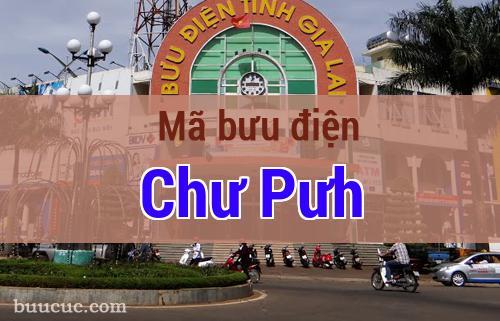 Mã bưu điện Chư Pưh, Gia Lai
