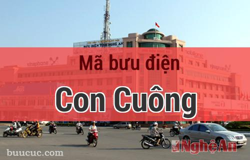 Mã bưu điện Con Cuông, Nghệ An