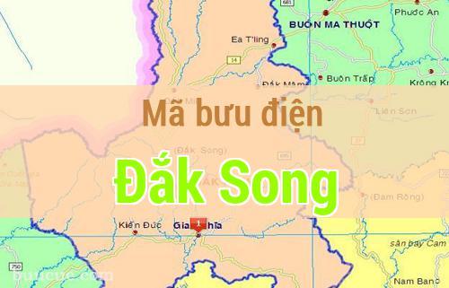 Mã bưu điện Đắk Song, Đắk Nông