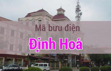 Mã bưu điện Định Hoá, Thái Nguyên