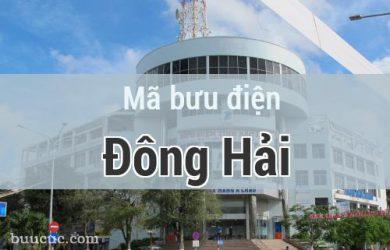 Mã bưu điện Đông Hải, Bạc Liêu