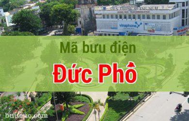 Mã bưu điện Đức Phổ, Quảng Ngãi