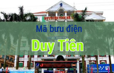 Mã bưu điện Duy Tiên, Hà Nam
