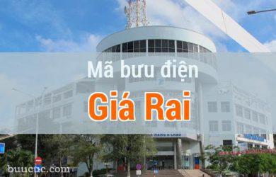 Mã bưu điện Giá Rai, Bạc Liêu
