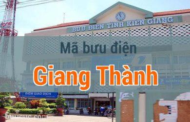 Mã bưu điện Giang Thành, Kiên Giang