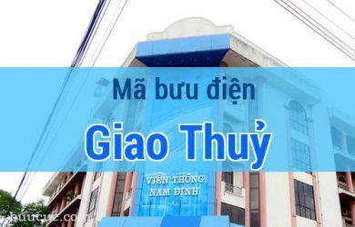 Mã bưu điện Giao Thuỷ, Nam Định