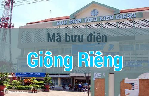 Mã bưu điện Giồng Riềng, Kiên Giang