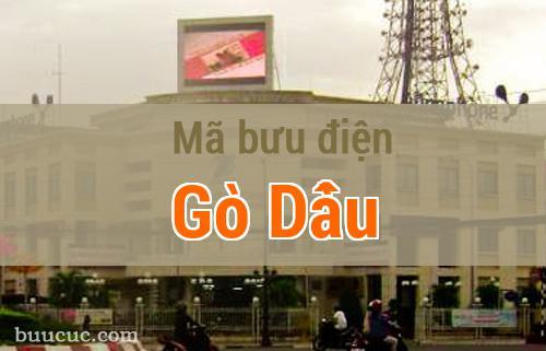Mã bưu điện Gò Dầu, Tây Ninh