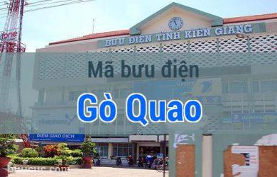 Mã bưu điện Gò Quao, Kiên Giang