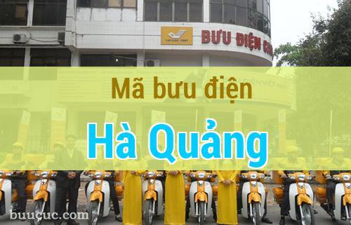 Mã bưu điện Hà Quảng, Cao Bằng