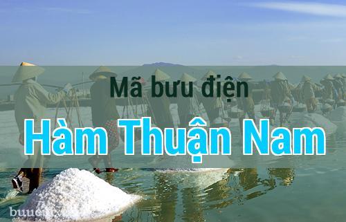 Mã bưu điện Hàm Thuận Nam, Bình Thuận