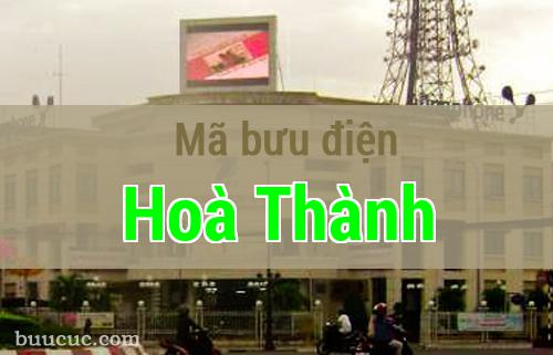 Mã bưu điện Hoà Thành, Tây Ninh