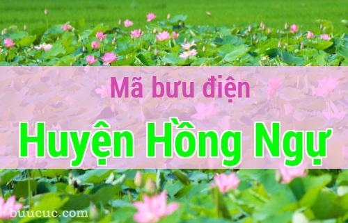 Mã bưu điện Huyện Hồng Ngự, Đồng Tháp