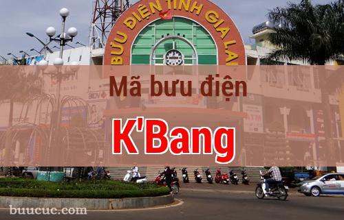 Mã bưu điện K'Bang, Gia Lai