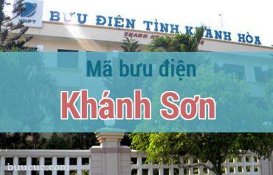 Mã bưu điện Khánh Sơn, Khánh Hoà