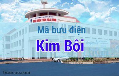 Mã bưu điện Kim Bôi, Hoà Bình