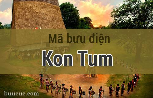 Mã bưu điện Kon Tum, Kon Tum