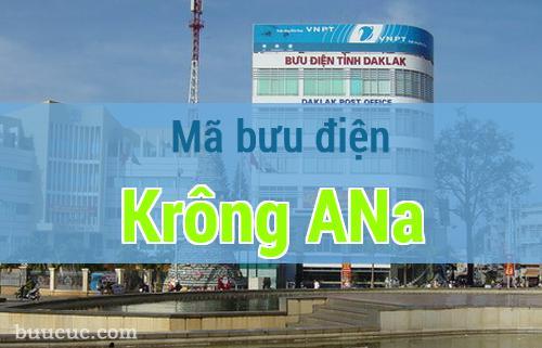 Mã bưu điện Krông ANa, Đắk Lăk