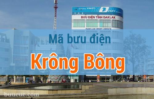 Mã bưu điện Krông Bông, Đắk Lăk