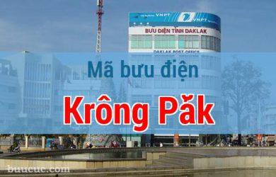 Mã bưu điện Krông Pắk, Đắk Lăk