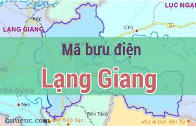Mã bưu điện Lạng Giang, Bắc Giang