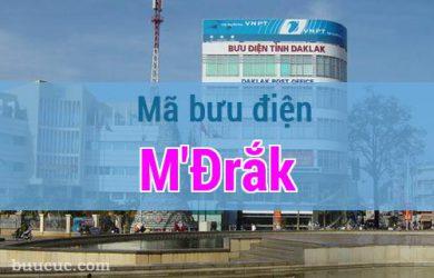 Mã bưu điện M'Đrắk, Đắk Lăk