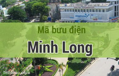 Mã bưu điện Minh Long, Quảng Ngãi