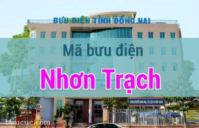 Mã bưu điện Nhơn Trạch, Đồng Nai
