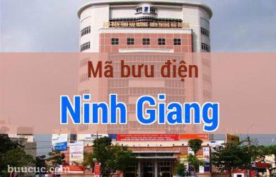 Mã bưu điện Ninh Giang, Hải Dương