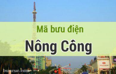 Mã bưu điện Nông Cống, Thanh Hoá