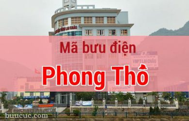 Mã bưu điện Phong Thổ, Lai Châu